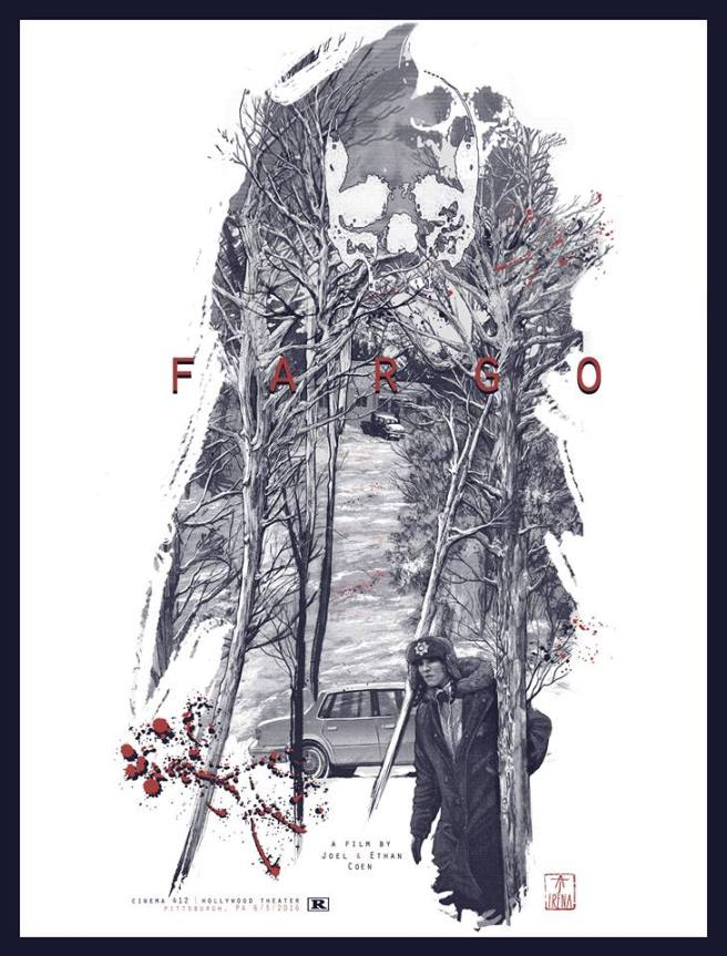 "Part XIV - Fargo by AJ Frena (18x24"" 4 Color Screenprint)"