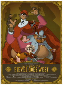 Part V – An American Tail: Fievel Goes West by Rich Kelly (18×24″ 7 Color Screenprint)
