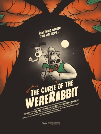 "Part XII - Wallace & Gromit: Curse of the Were-Rabbit by David Moscati (18x24"" 3 Color Screenprint)"