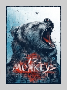 "Part VI - 12 Monkeys by Zeb Love (18x24"" 4 Color Screenprint)"
